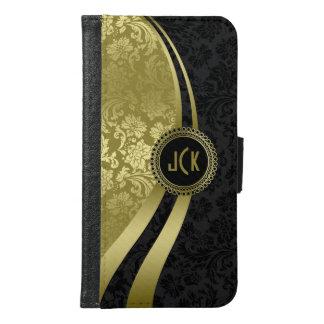 Elegant Black & Gold Damasks Wallet Phone Case For Samsung Galaxy S6