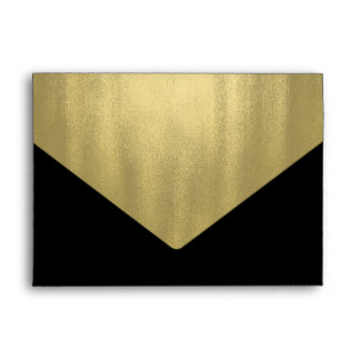 Elegant Black Gold Foil Envelope
