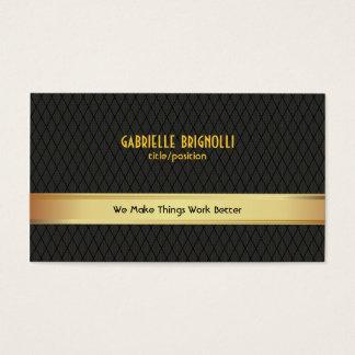 Elegant Black & Gold Geometric Pattern Business Card
