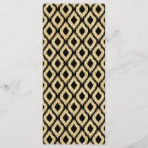 Elegant Black Gold Glitter Tribal Pattern