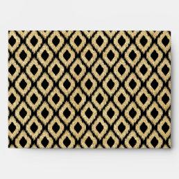 Elegant Black Gold Glitter Tribal Pattern Envelope