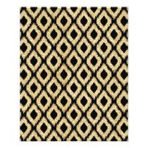 Elegant Black Gold Glitter Tribal Pattern Flyer