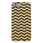 Elegant Black Gold Glitter Zigzag Chevron Pattern iPhone 6 Case