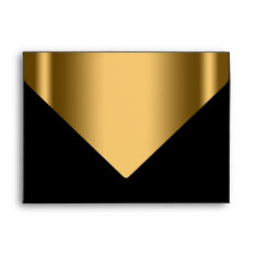 Elegant Black Gold Invitation Envelope at Zazzle