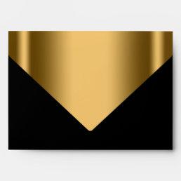 Elegant Black Gold Invitation Envelope