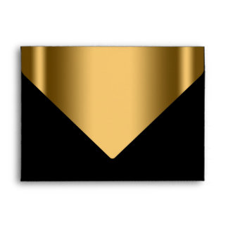 Elegant Black Gold Invitation Envelope