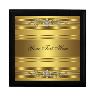 Elegant Black Gold Keepsake Gift Box