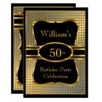 Elegant birthday invitations zazzle elegant black gold mens birthday party invitation filmwisefo