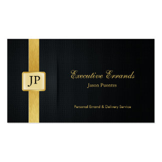 Elegant Black & Gold Professional Errand Service Double-Sided Standard Business Cards (Pack Of 100)