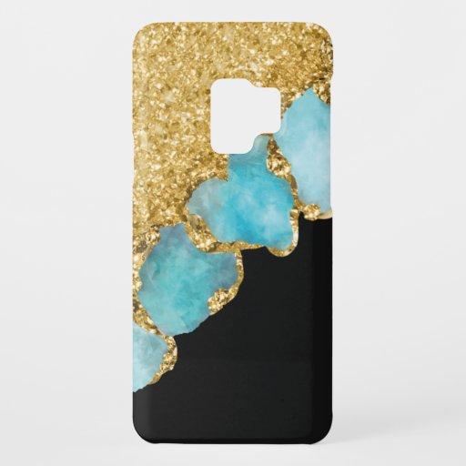 Elegant Black Gold Sparkle Glitter Chic Case-Mate Samsung Galaxy S9 Case