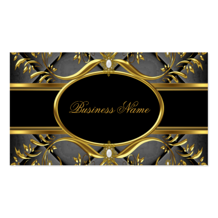 Elegant Black & Gold Swirl Business Card Business Card Templates