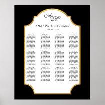 Elegant Black | Gold Wedding Seating Chart