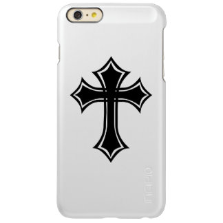 Elegant Black Gothic Cross Incipio Feather Shine iPhone 6 Plus Case
