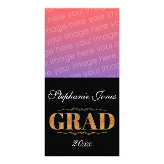 Elegant, black Grad Card