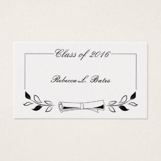 Graduation Name Card Insert Business Cards & Templates | Zazzle