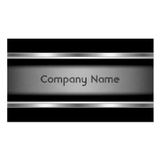 Elegant Black Grey Silver Business Card Company Business Cards