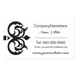 Elegant Black Key Business Card Design