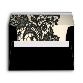 elegant black lace envelope