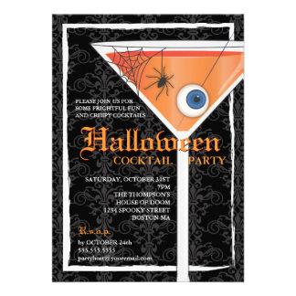 Elegant Black Lace Halloween Cocktail Party Announcement