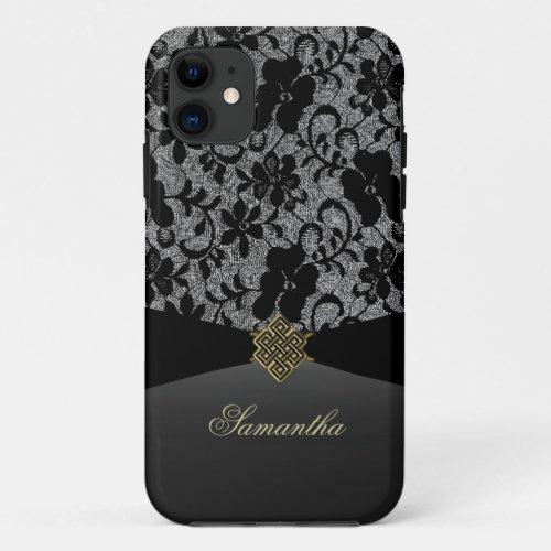 Elegant Black Lace Personalized iPhone Case Phone Case