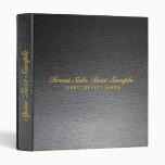 Elegant Black Leather Look Customized Avery Binder Binders