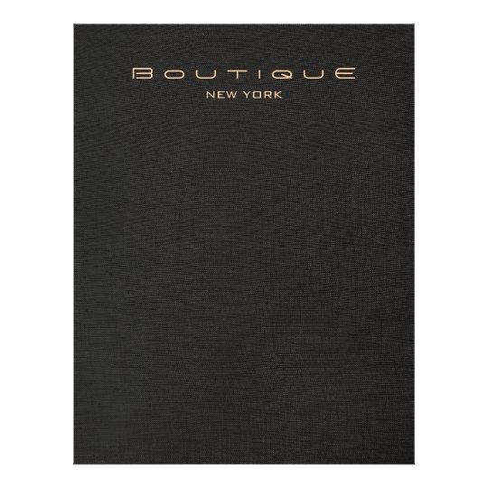 Elegant Black Linen Look Flyer