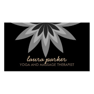 Elegant Black Lotus Flower  Yoga Healing Health Do Business Card