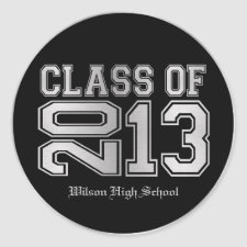 Elegant Black & Metallic Silver Class of 2013