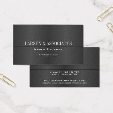 Lawyer Themed Elegant Black Modern Business Card Template