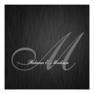 Elegant Black Monogram 2013 Graduation Card