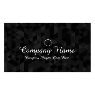 Elegant Black Monogram Professional Business Card
