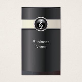 Elegant Black Music Business Card