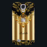 "Elegant Black on Gold Monogram add name Samsung S4 Case<br><div class=""desc"">Elegant Classy Elegant Gold Black on Elite Gold Name Monogram</div>"