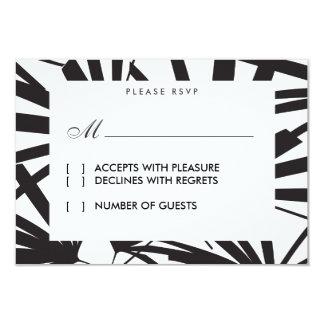 Elegant Black Palm Fronds RSVP Card