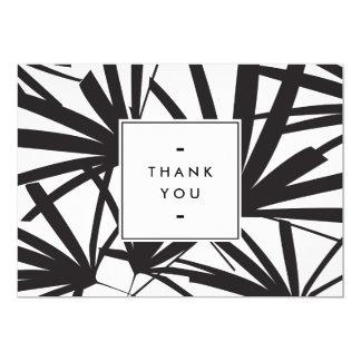 Elegant Black Palm Fronds Thank you Notecard II