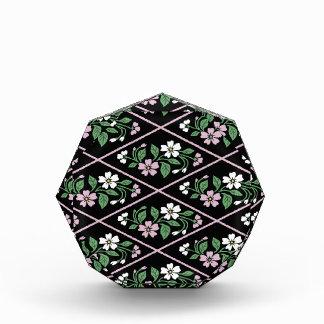 Elegant Black Pink and White Floral Pattern Award