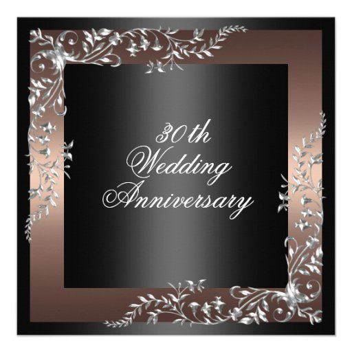 Elegant Black/Pink wedding anniversary Invitation