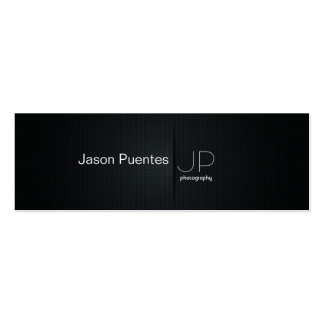 Elegant Black Professional Photography Business Cards