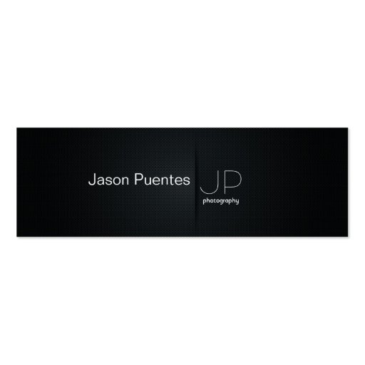 Elegant Black Professional Photography Mini Business Card
