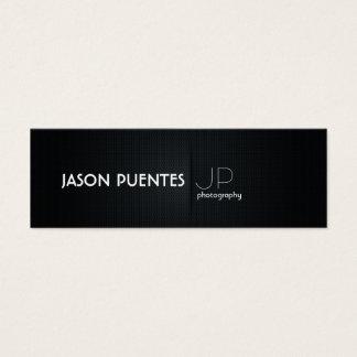 Elegant Black Professional Photography Mini Business Card