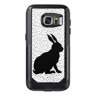 Elegant Black Profile Sitting Rabbit silhouette OtterBox Samsung Galaxy S7 Case