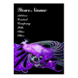 ELEGANT BLACK PURPLE PEACOCK FASHION JEWEL LARGE BUSINESS CARDS (Pack OF 100)