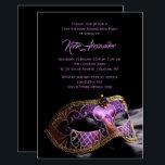 "Elegant Black Purple Sweet 16 Masquerade Party Invitation<br><div class=""desc"">Elegant Black Purple Sweet 16 Masquerade Party</div>"