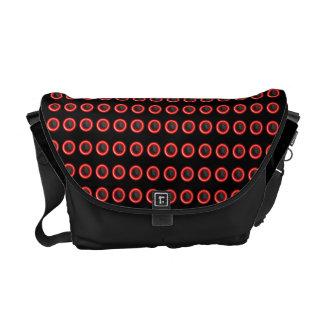 """Elegant black red """"polka dot"""" pattern commuter bag"""