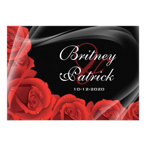 Red Rose Wedding Invitations and get inspiration to create nice invitation ideas