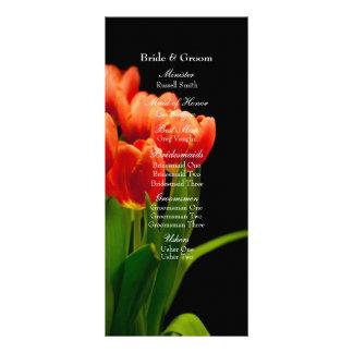 Elegant Black Red Tulips Wedding Program