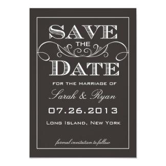 Elegant Black Save the Date Announcement
