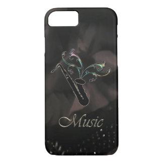Elegant Black Saxophone iPhone 7 Case