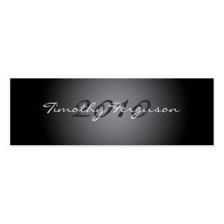 Elegant black silver graduation name card Double-Sided mini business cards (Pack of 20)