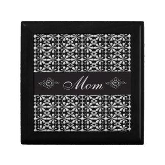 Elegant Black & Silver Jewels Mom Jewelry Box